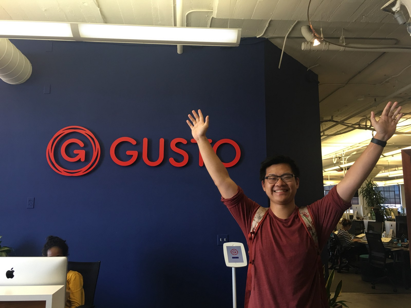 My last day at work. Go #withGusto!
